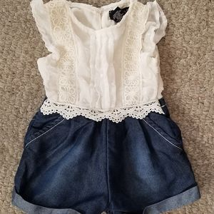 Limited Too One Pieces - Baby Girl One Piece Denim & Lace